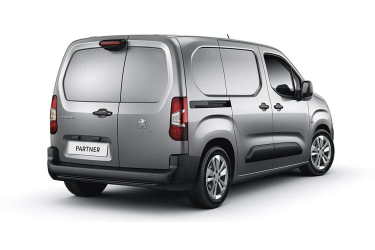 Peugeot Partner Standard 1000Kg 1.5 BlueHDi FWD 130PS Asphalt Premium Van EAT8 [Start Stop] back view