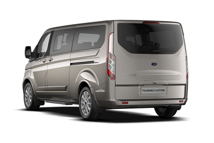 Ford Tourneo Custom 320 L2 M1 2.0 EcoBlue FWD 130PS Titanium Minibus Manual [Start Stop] [8Seat] back view