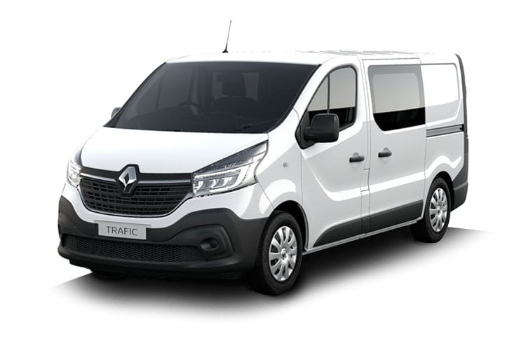 Renault Trafic 30 LWB 2.0 dCi ENERGY FWD 170PS Black Edition Crew Van EDC [Start Stop] front view