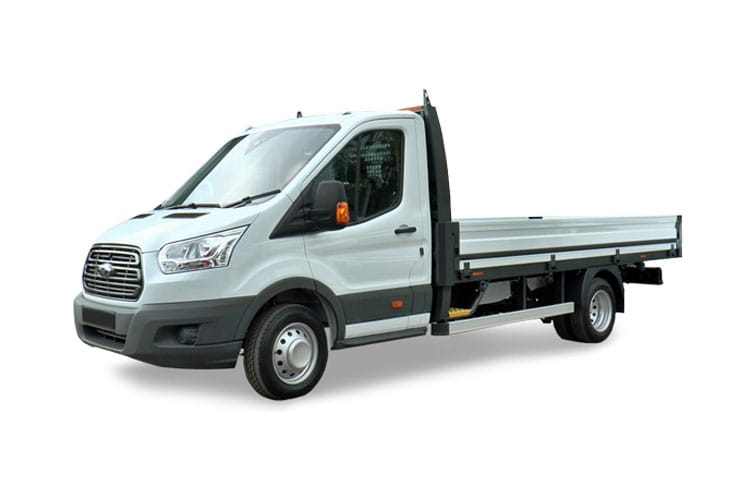 Ford Transit 350 L4 2.0 EcoBlue FWD 170PS Leader Premium Dropside Manual [Start Stop] front view