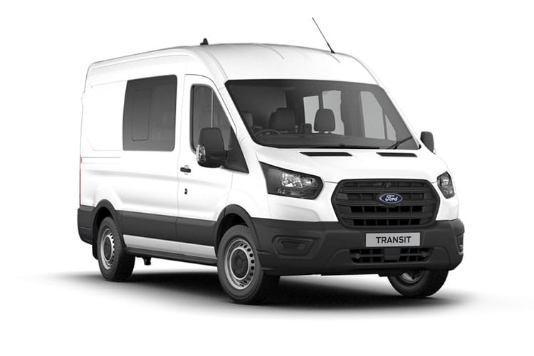 Ford Transit 350 L3 RWD 2.0 EcoBlue MHEV RWD 130PS Leader Crew Van High Roof Manual [Start Stop] [DCiV] front view
