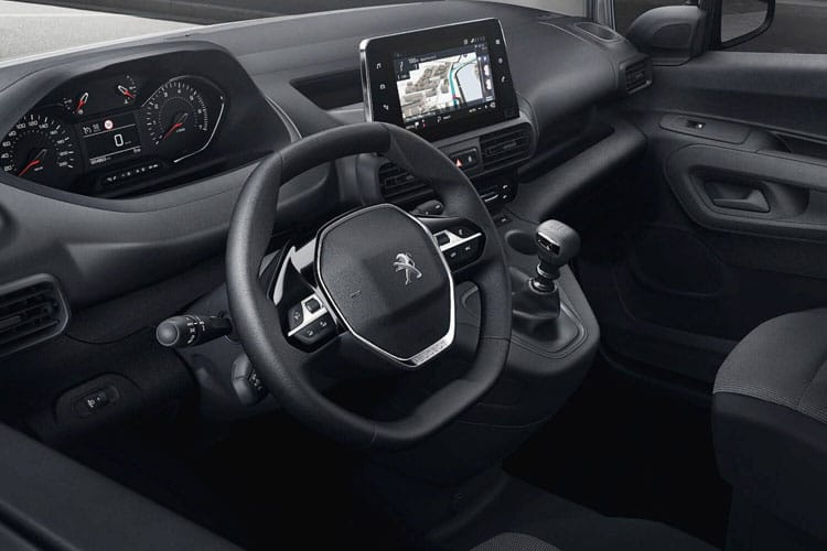 Peugeot Partner Standard 1000Kg 1.5 BlueHDi FWD 130PS Asphalt Premium Van EAT8 [Start Stop] inside view